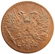 1 Penni - Nikolai II (Civil War Coinage) – obverse