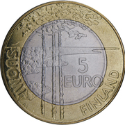 5 Euro (Ice Hockey) -  reverse