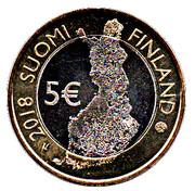 5 Euro (Finnish National Landscapes: Punkaharju) – obverse