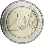 2 Euro (100 years of Independence) -  reverse