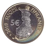 5 Euro (Finnish National Landscapes: Olavinlinna Castle and Lake Pihlajavesi – obverse