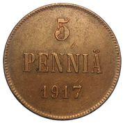 5 Penniä - Nikolai II (Civil War Coinage) – reverse
