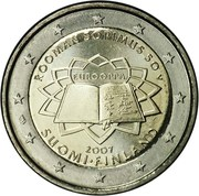 2 Euro (Treaty of Rome) – obverse