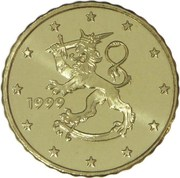10 Euro Cent (1st type, 1st map) -  obverse