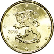 10 Euro Cent (2nd type, 2nd map) -  obverse
