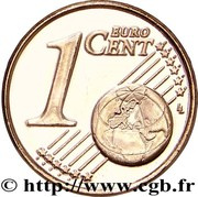 1 Euro Cent (2nd type) -  reverse