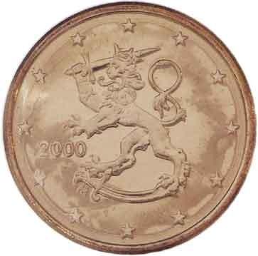 Finland 1 2 /& 5 Euro Cent 2007 UNC Lion