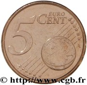 5 Euro Cent (1st type) -  reverse