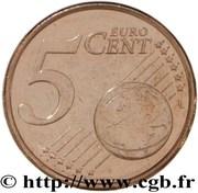 5 Euro Cent (1st type) -  reverse