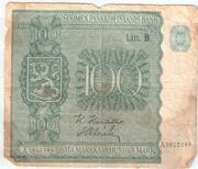 100 Markkaa -  obverse