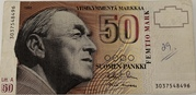 50 Markkaa 1986 Issue; Litta. A -  obverse