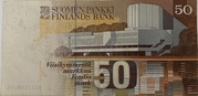 50 Markkaa 1986 Issue; Litta. A -  reverse