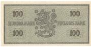 100 Markkaa – reverse
