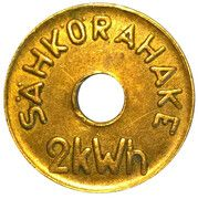 Laundry Room Token - 2kWh Electricity – obverse