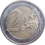 2 Euro (200 Years of Finland National Bank) -  reverse