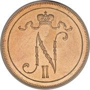 10 Penniä - Nikolai II – obverse