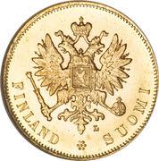 10 Markkaa - Aleksandr II / Nikolai II – obverse