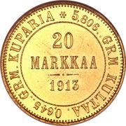 20 Markkaa - Aleksandr II / Nikolai II – reverse