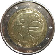 2 Euro (10 Years of EMU) – obverse