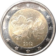 2 Euro (2nd type, 2nd map) – obverse