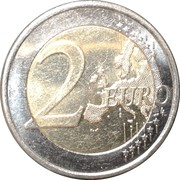 2 Euro (2nd type, 2nd map) – reverse