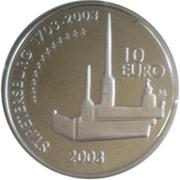 10 Euro (Mannerheim and St. Petersburg) -  reverse