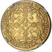 Lion heaumé d'or - Louis II de Mâle - Ghent Mint – reverse