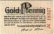 1 Gold Pfennig (Flensburger Goldmarkgesellschaft) – obverse