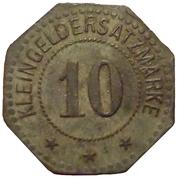 10 Pfennig - Flensburg – reverse