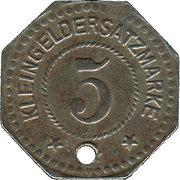 5 Pfennig - Flensburg – reverse