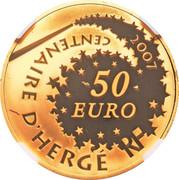 50 Euro (Tintin and Snowy) – reverse