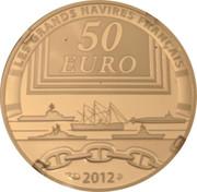 50 Euro (Joan of Arc) – reverse