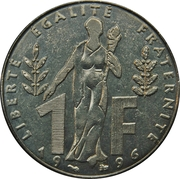 1 Franc (Jacques Rueff) -  reverse