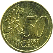 50 Euro Cent (1st map) -  reverse