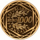 1000 Euro (Rooster ; 3rd type) – reverse