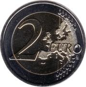 2 Euro (Bleuet de France; Colored) -  reverse