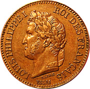 2 Centimes - Louis Philippe I (pattern of Barre) -  obverse