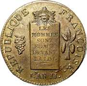2 Sols (Dated version) – obverse
