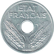 20 Centimes (Vichy French State) -  obverse