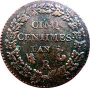 5 Centimes -  reverse