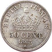 50 Centimes - Napoleon III -  reverse