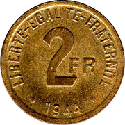 2 Francs -  reverse