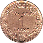 1 Franc (Chambers of Commerce) -  reverse