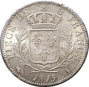 5 Francs - Louis XVIII (dressed bust) -  obverse