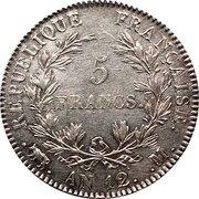 5 Francs - Napoleon I (nude head, transitional type) -  obverse