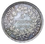 5 Francs (Hercule, 2nd republic) -  obverse