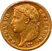 20 Francs - Emperor Napoléon -  obverse