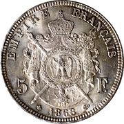 5 Francs - Napoleon III -  reverse