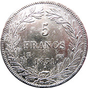 5 Francs - Louis-Philippe I (with I - engraved edge) -  obverse