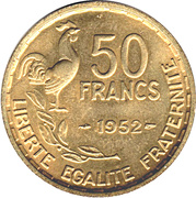 50 Francs -  reverse